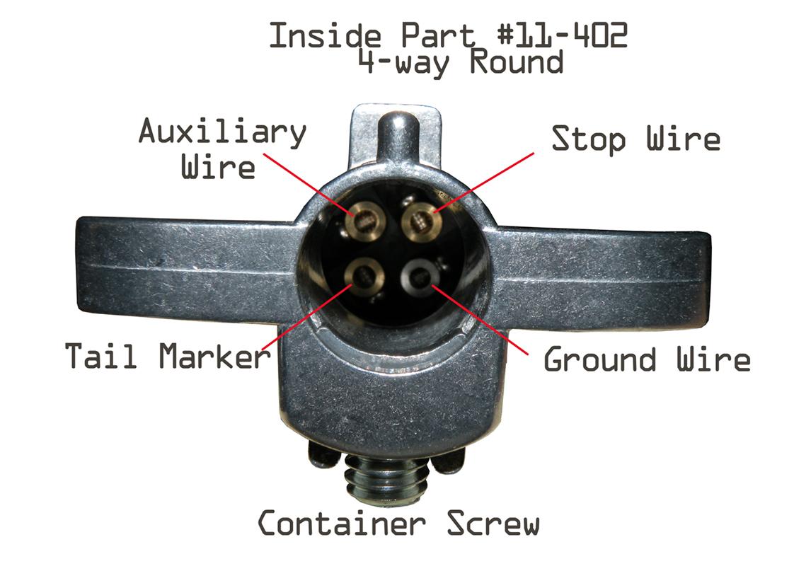 Trailer Wiring Harness Diagram In Addition 4 Way Round Trailer Wiring