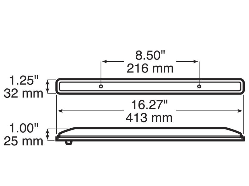 6 Diode Red L E D Identification Bar