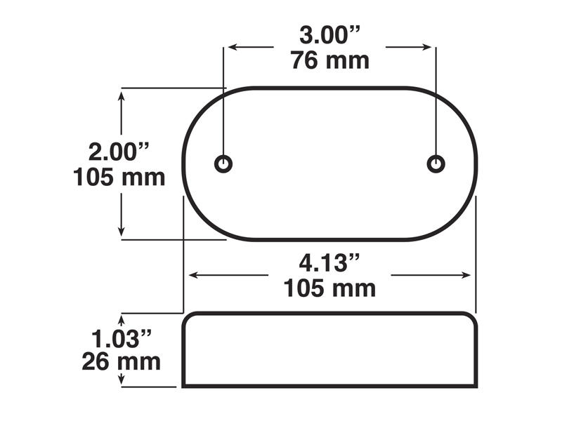 Piranha LED Oval Clearance Side Marker With Reflex