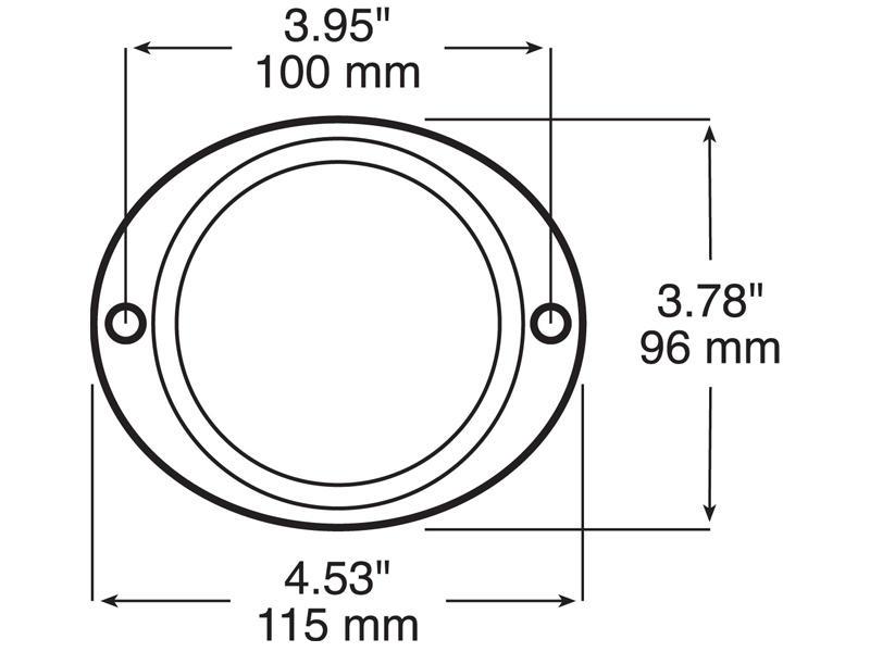 Peterson B 472 A Aluminum Oval Reflector Amber
