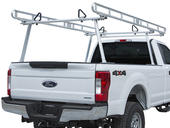 Clear Anodized Aluminum Pickup Truck Ladder Rack