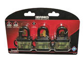 Weather Resistant Padlocks - 3pk - Keyed Alike