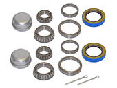 Pair Of Trailer Bearing Repair Kits For 1-3/8 Inch to 1-1/16 Inch Tapered Spindles