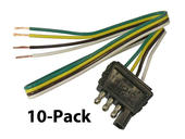 4-Flat Trailer End Connector - 10-Pack