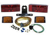 Waterproof Rectangular Trailer Light Kit with Wiring Harness