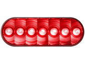Oval L.E.D. Red Tail Light - LumenX