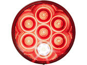4 Inch Round L.E.D Tail Light With Cyclops Back-Up Eye - Grommet Mount