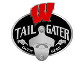 Wisconsin Badgers Tailgater Hitch Cover with Bottle Opener