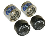 "Bearing Buddy® Chrome Bearing Protectors With Bras - Pair - 2.328"" Diameter"