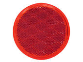 Round Quick-Mount Red Reflector