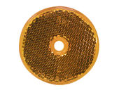 Round Center-Mount Reflector- Amber