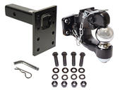Combination Pintle Hook w/ 2-5/16 Ball, Mounting Plate and Hardware