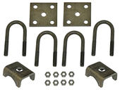U-Bolt Mounting Kit For 2,200 lb Axles with 1-3/4 Inch Round Tube Diameter
