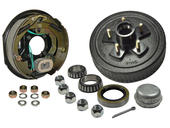 5-Bolt on 5 Inch Bolt Circle - 10 Inch Hub/Drum With Electric Brake Assembly - Passenger Side