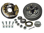 5-Bolt on 4-1/2 Inch Bolt Circle - 10 Inch Hub/Drum With Hydraulic Brake Assembly - Passenger Side