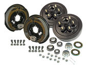 6-Bolt on 5-1/2 Inch Bolt Circle - 12 Inch Hub/Drum With Electric Brake Assembly - Pair