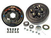 6-Bolt on 5-1/2 Inch Bolt Circle - 12 Inch Hub/Drum With Hydraulic Brake Assembly - Drivers Side