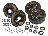 8-Bolt on 6-1/2 Inch Bolt Circle - 12 Inch Hub/Drum With Electric Brake Assembly - Pair