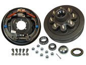 8-Bolt on 6-1/2 Inch Bolt Circle - 12 Inch Hub/Drum With Hydraulic Brake Assembly - Drivers Side