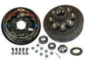 8-Bolt on 6-1/2 Inch Bolt Circle - 12 Inch Hub/Drum With Hydraulic Brake Assembly - Passenger Side