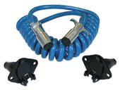 6 Wire Electrical Coiled Cable Ext