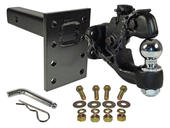 "Combination Pintle Hook w/ 2"" Ball, Mounting Plate and Hardware"