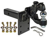 "Combination Pintle Hook w/ 2-5/16"" Ball, Mounting Plate and Hardware"