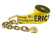 Winch Strap With Chain Lead - 4 inch x 30 feet