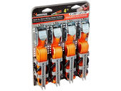 Cam Buckle Tie-Down Straps - 4-Pack