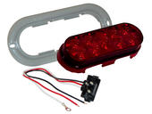 6 inch Oval LED Trailer Tail Light Kit- Red