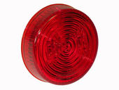 2-1/2 Inch Round Sealed LED Clearance/Marker Light- Red