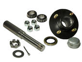Single - 4-Bolt On 4 Inch Hub Assembly - Includes (1) 1-1/16 Inch Straight Spindle & Bearings