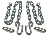 3/8 Inch Safety Chains with Wire Latches And 1/4 Inch Quick Links
