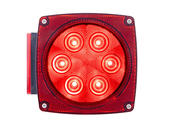 LED Combination tail light, driver side with license illuminator, Waterproof LED