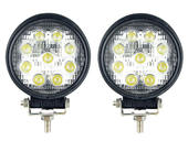 27-Watt LED Round Flood Lights - Pair