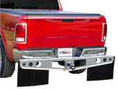 RockStar™ Custom Fit Hitch Mounted Mud Flaps - Diamond Plate Finish