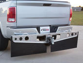 RockStar™ Custom Fit Hitch Mounted Mud Flaps - Smooth Mill Finish