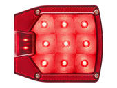 """LED Combination Tail Light for Over/Under 80"""" Applications - With License Illuminator - Drivers Side"""