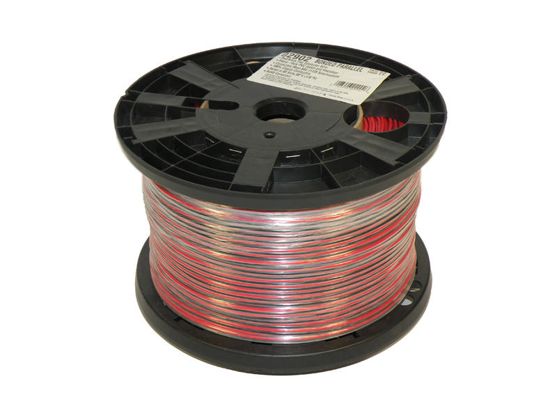 Bonded Parallel - Red/Black - 1,000 Feet