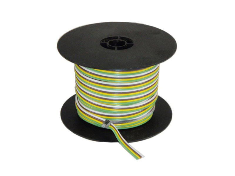 4-Wire Bonded Parallel - Brown/Green/White/Yellow - 100 Feet