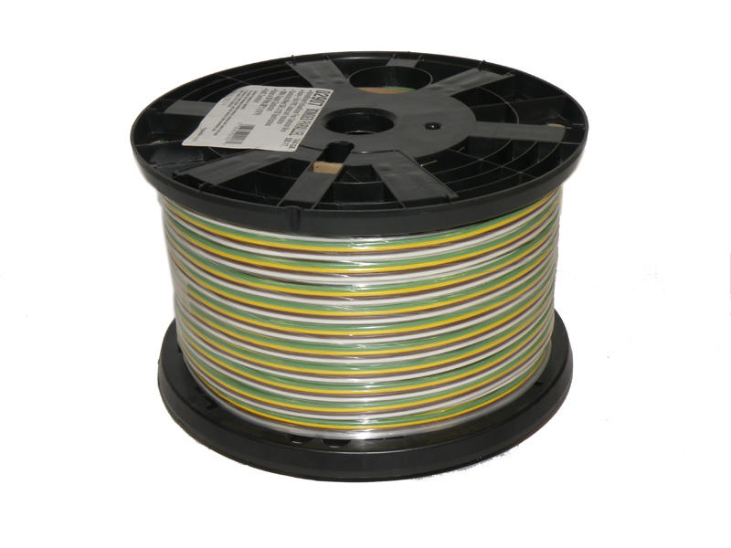 4-Wire Bonded Parallel - Brown/Green/White/Yellow - 500 Feet