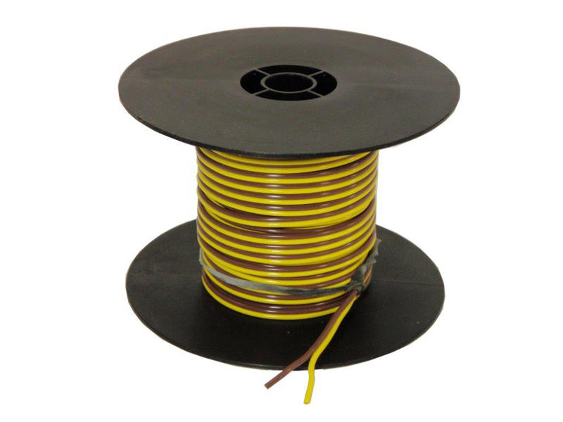 2-Wire Bonded Parallel - Yellow/Brown - 100 Feet