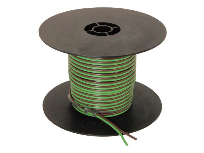 2-Wire Bonded Parallel - Green/Brown - 100 Feet