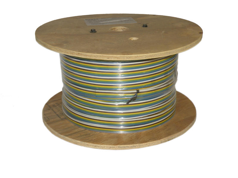 5-Wire Bonded Parallel - Brown/Green/White/Yellow/Blue - 500 Foot