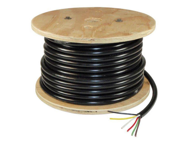 6-Wire Trailer Lighting Cable - Red/White/Black/Brown/Green/Yellow - 100 Feet