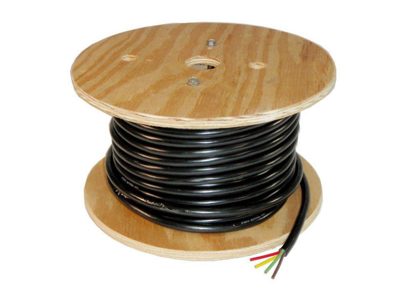 4-Wire Trailer Lighting Cable - Red/Yellow/Green/Brown - 100 Feet