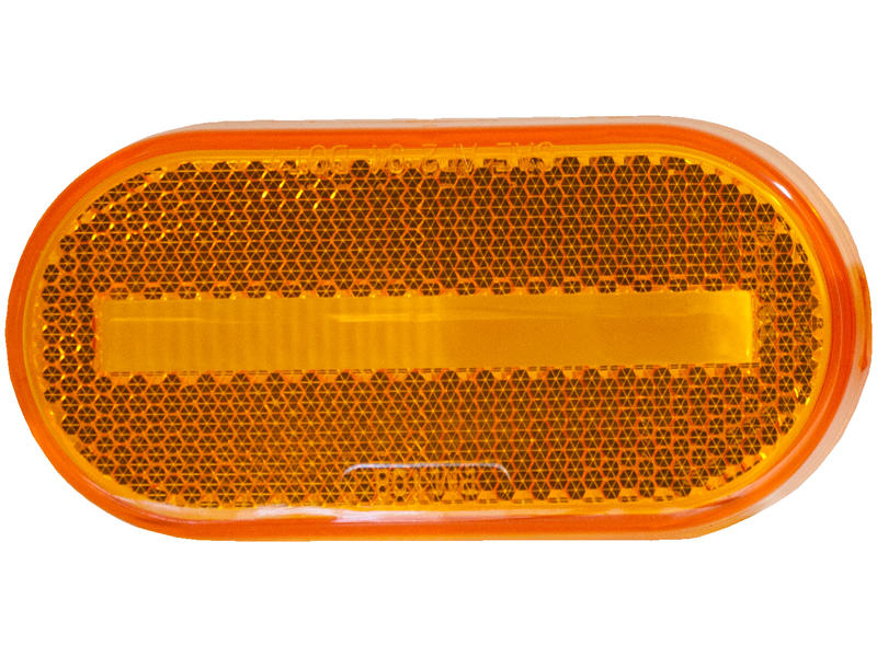Amber Replacement Lens With Built-In Reflector