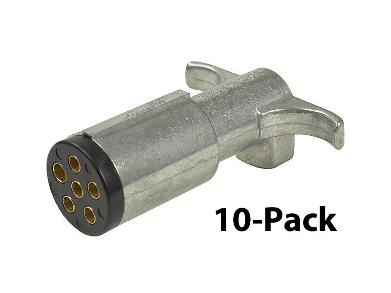 6-Way Round Trailer End Plug - 10-Pack