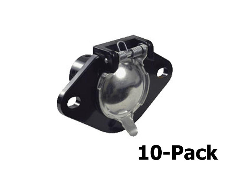 6-Way Round Car End Socket - 10-Pack