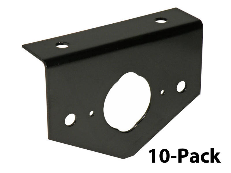 4-Way and 6-Way Socket Black Mounting Brackets - 10-Pack